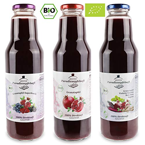 Granatapfel-Mix 100% Bio-Direktsaft (naturtrüb) - 6 x 750 ml