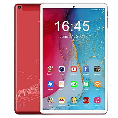 Tablette 10 Pouces Android 10, 5G WiFi Tablette Tactile, 4 Go de RAM, 64 Go de ROM, 128 Go Extensible, Quad Core, 1280 x 800 IPS HD, 6000 mAh, Double caméra, Bluetooth, Type-C, Tablette Version WiFi