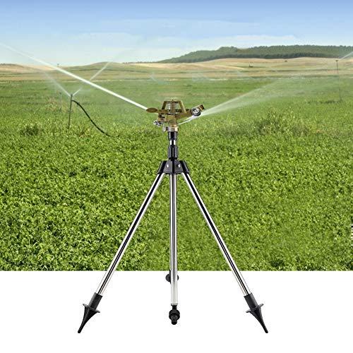 360 ° Zink Legering Impact Sprinkler op Statief Basis Water Watering Sproeier voor Gazon Tuin Boom Bloemen Planten Bomen