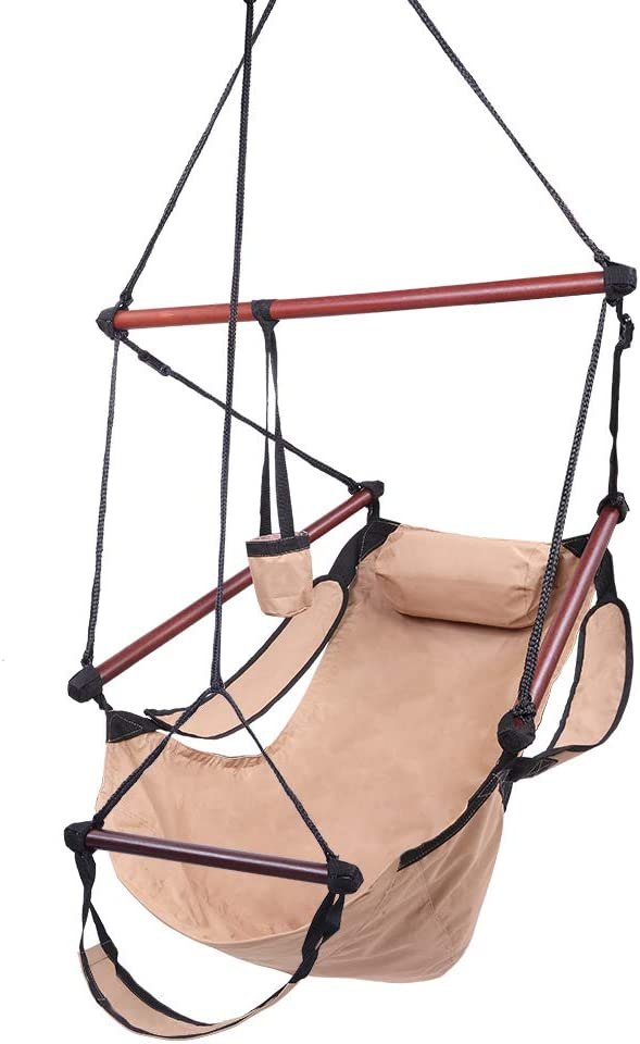 Max 54% Inventory cleanup selling sale OFF Hammock Sky Chair Air Deluxe Hanging Throu Swing Seat Rope with