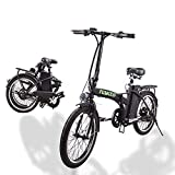 nakto Electric Bike City Electric Bikes for Adults 6 Speed Ebike with 36V10AH Removable Lithium Battery and 1 Year Warranty 20'