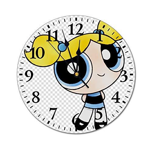 YOKJLDH Powerpuff - Reloj de pared de PVC para colorear,