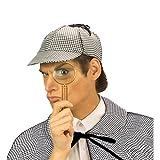 NET TOYS Sherlock Holmes Hut Detektiv Faschingshut Agenten Mütze Schnüfflermütze Detektivmütze Investigator Karneval Kostüm Zubehör