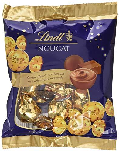 Lindt Nougat Kugeln, zarter Haselnuss-Nougat in Vollmilch-Chocolade, enthält 8 Nougat Kugeln, glutenfrei, 101g