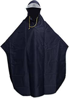 VORCOOL - Poncho de lluvia con capucha para mujer, hombre, ciclismo, color azul marino