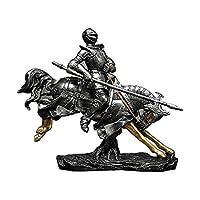 フィギュアアンティークコレクター工芸品飾り彫像ナイト男性彫刻家の装飾Ritter Sculptureデスクトップの装飾