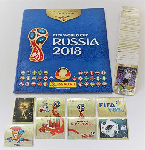 Panini FIFA WM 2018 Russland - Komplettsatz 682 Sticker + Leeralbum