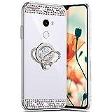 Miroir Coque pour Xiaomi Mi Mix 2,[ Support Bague ] Miroir Etui Silicone Gel TPU...
