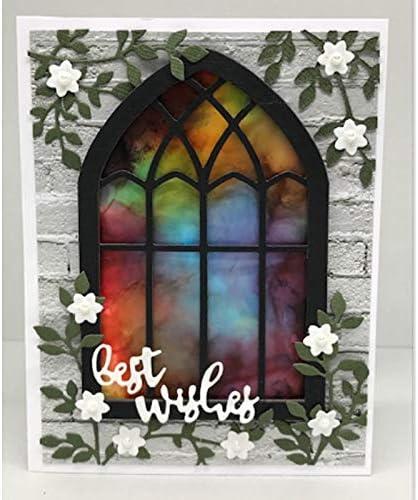 Church Windows Nicole Design Metal Stencils DIY Dies New Free Shipping Seasonal Wrap Introduction Cutting for