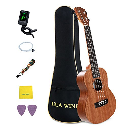 HUAWIND Professional Tenor Ukulele Kit Mahogany Hawaiian Ukulele for Beginners with Gig Bag,Tuners,Strap,Picks, Extra String, Polishing...