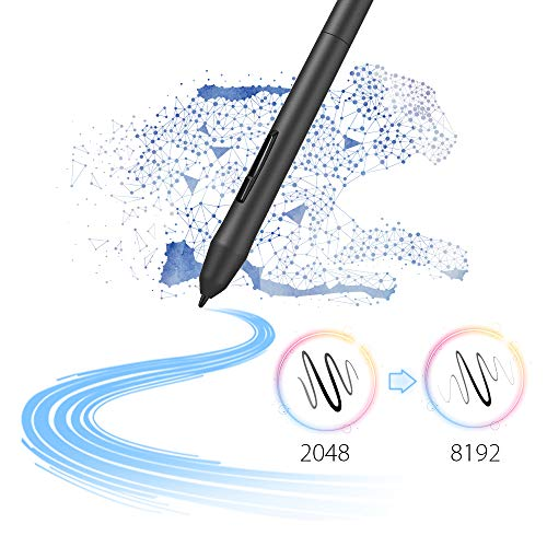 XP-PEN Star03 V2 Drawing Tablet Graphics Drawing Pen Tablet with 8192 Levels Pen Pressure Battery-Free Stylus Passive Pen Signature Board with 8 Hot Keys (Black)