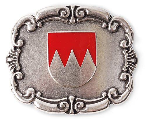Veri Franken Wappen Gürtelschnalle Fränkischer Rechen Buckles rot silber Schnalle zu Wechseln one size cm :