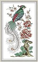 クロスステッチ キット 刺繍 手芸用品咲く花11CT 手芸 Cross Stitch 図柄印刷 初心者 刺繍糸 針 布 家の装飾 壁の装飾(42x53cm)