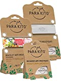 Parakito - Proteccion Natural ANTIMOSQUITO - Kit 2 x Para'kito Pulsera Repelente de Mosquitos(Verde y Blanco) + 1 x Recarga Para'kito para Pulsera