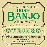 D'Addario J63i Irish Tenor Banjo Strings, Nickel, 12 - 36