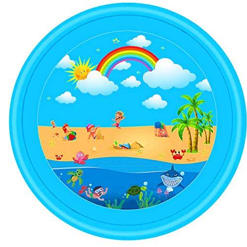 Niikee Wasserspray Sommer Outdoor Garten Rasen Strand Meerestier Aufblasbares Kaltwasserspray Kinder Sprinkler Spielspiel Pad Mat Wanne Schwimmbad Spielzeug (B)