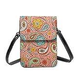 Adora Paisley - Bolso bandolera para mujer, diseño de cachemira, color coral