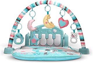 Musical Activity Play Mat Kick and Play Piano Gym Centers with Hanging Rattlers and Light Up Toys Early Education Toys for...