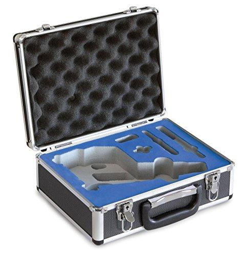 Kern aluminium koffer, afmetingen: 310 x 120 x 240 mm, gewicht: 1300 g.