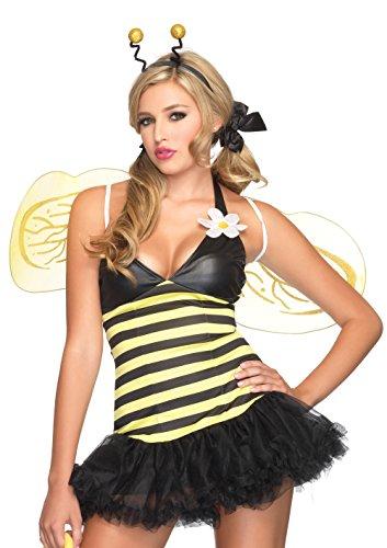 LEG AVENUE 83343 - Bienen Kostüm 4-teilig, Größe: M/L (EUR 40-42)