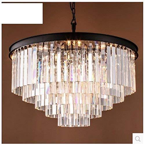 Plafondlamp Retro Led Ronde Villa Hotel Engineering Restaurant slaapkamer woonkamer smeedijzer kristal kroonluchter langwerpig
