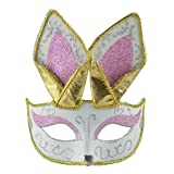 Fine Cat Masquerade Mask for Women Lace Masquerade Mask Fox Mask Venice Style Half Face Ball Mask Womens Costume Mask Decoration (A)