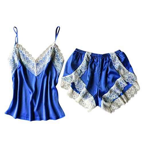 Sexy Traje Tirantes Encaje Pijamas Ropa Interior de Encaje Camisa de Dormir de Encaje Salto de Encaje Cuello V Traje de satén riou