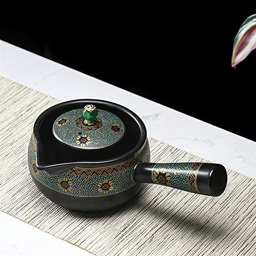 ZHANGJINPING Tetera de cerámica japonesa Side to Cook, artefacto de té negro Pu'er Tea Xiaoqing té naranja Tetera Tetera Tetera Tetera Tetera Tetera, cerámica, Gran Joe, Single pot