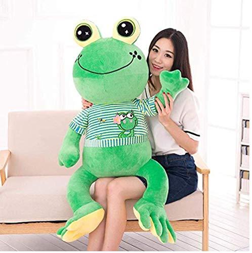 CPFYZH Plüsch Frosch Puppe großes Stofftier Riesen Kissen Tierspielzeug Puppe Stofftier Kinder großes Auge Frosch Kissen 65Cm_Green-A