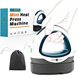 HTVRONT Easy Press Mini Heat Press Machine for T Shirts Shoes Hats, Small Easy Press Mini Iron Press for HTV Vinyl Projects& Heating Transfer