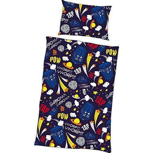 Doctor Who Tardis Comets and Stars Single Duvet Bed Set