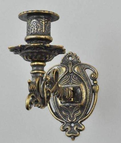 Arterameferro Kerzenhalter aus brüniertem Messing Barock von Klavier zu einer Kerze