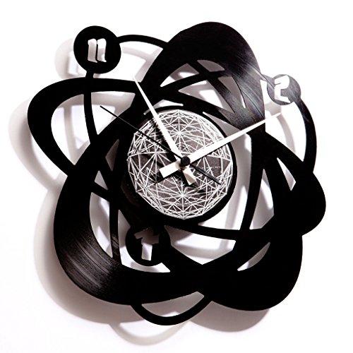 Disc O Clock DOC021 Pendule Disque 33 Tours Atomium Noir