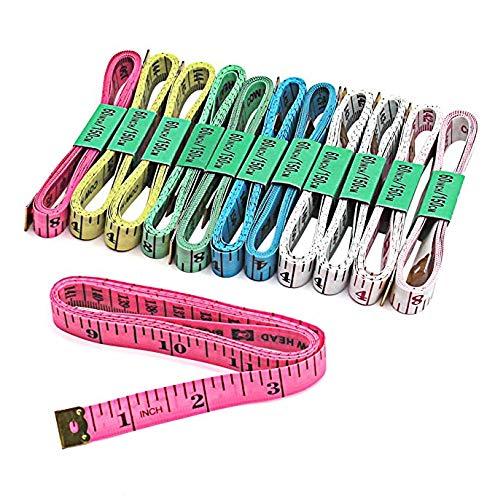 Regla de medición Corporal de 150 cm / 60 Pulgadas, Cinta métrica de Sastre, Regla de Costura Plana Suave, medidor de Cinta métrica de Costura, Color Aleatorio