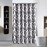 JTOOYS Household Shower Curtain, Mosaic Thick Waterproof Bathroom Curtain, Polyester Fabric Shower Curtain 200 * 200cm Waterproof and Mildew-proof Super Wide, Super Long Shower Curtain