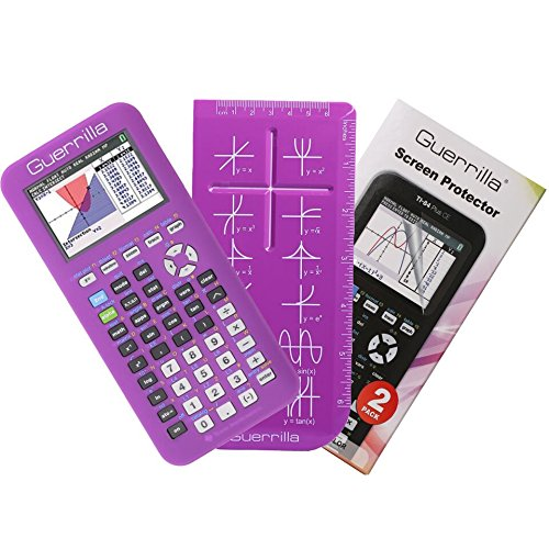 Guerrilla Silicone Case for Texas Instruments TI-84 Plus CE Color Edition Graphing Calculator With Screen protector and Graphing Ruler, Purple Photo #4