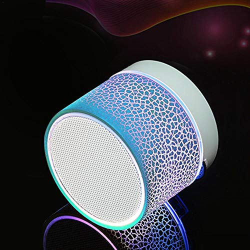 Godya Luz de Noche inalámbrica Bluetooth Altavoz de Sonido de pequeña grieta Altavoz multifunción Audio Teléfono móvil Mini Subwoofer Soporte Tarjeta TF/USB