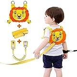 Lehoo Castle Guinzaglio per bambini per passeggiate, Imbracature di sicurezza per bambini Guinzagli per bambini, Cinture di sicurezza anti-polso per il polso (Arancione)