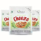 Enjoy a guilt-free gooey pizza with Katharos Plantbased Non-Dairy cheese. It is made from the goodness of natureâ€s bounty- Cashews, few condiments and Nothing Else! Our pizza cheese is gooey and melts beautifully on a pizza or a toasted sandwich. Br...