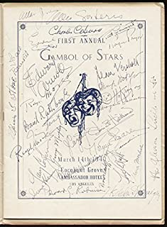 Gambol Of Stars 1940 - Program Signed 03/14/1940 with co-signers