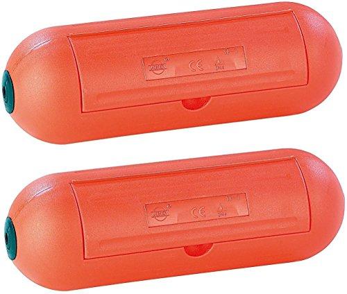 Paar ( 2 Stück ) Wasserfeste Schutzkapsel für Stromstecker / Verlängerung SafeBox IP44
