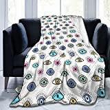 Evil Eye Ultra-Soft Micro Fleece Blanket Warm Blanket Throw Blanket Ultra Soft Thick Bed Blanket 50'' x 40'' for Couch Fleece - All Season Premium Bed Blanket