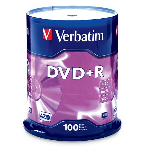 Verbatim DVD+R 4.7GB 16x AZO Recordable Media Disc ...