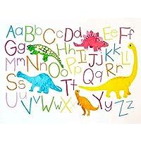 Paintings Drawing Children Kids Dinosaur Alphabet Colour Cute Art Print Poster Decor 12X16 Inch 絵画図子供子供たち恐竜色可愛いポスターデコ