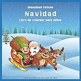 Navidad - Libro de colorear para niños - Mandalas felices
