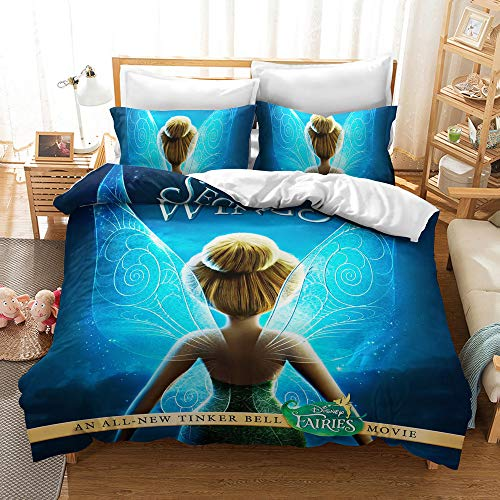 beautiful tinkerbell bedding set
