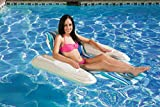 Poolmaster Swimming Pool Adjustable Floating Chaise Lounge, Rio Sun, Blue Currents