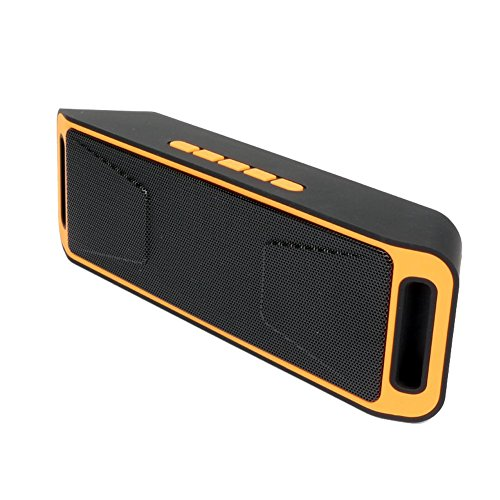Sicneka Bluetooth 4.0 Portable Wireless Speaker TF USB FM Radio Built-in Mic Dual Speaker Bass Sound Subwoofer - Orange