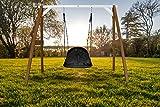Beauty.Scouts Nestschaukel Lola IV Hemlock Holz braun-weiß 160x254x207cm Schaukel Holzschaukel...