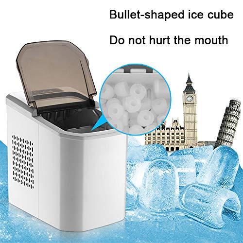 ZHHB Eiswürfelbereiter, Ice Maker, Eiswürfelmaschine Edelstahl, 9 Eiswürfel in 8 Minuten, 15 Kg 24 H, Selbstreinigungsfunktion, Für Kitchen Home Bars